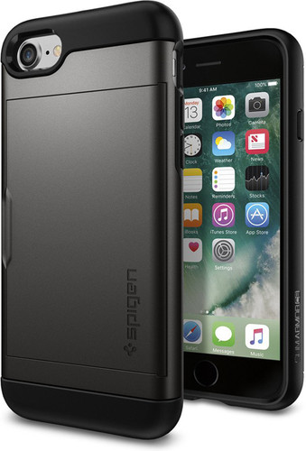 Spigen Slim Armor Apple iPhone SE 2 / 8 / 7 / 6 / 6s Grijs Main Image