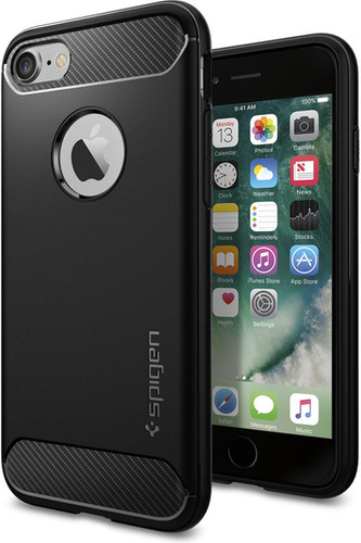 Spigen Rugged Armor Apple iPhone 7/8 Zwart Main Image