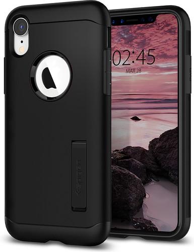 Spigen Slim Armor iPhone Xr Back Cover Black Main Image