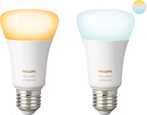 Philips Hue White Ambiance E27 Duo Pack Main Image