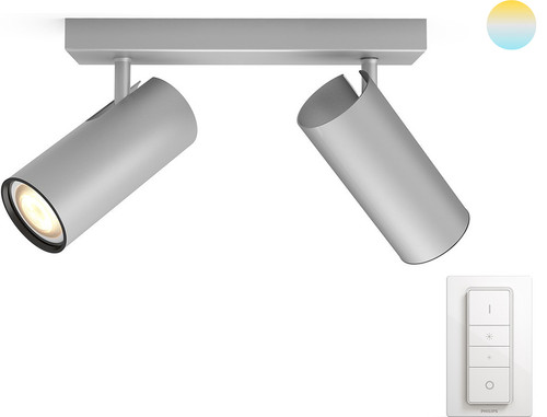 Philips Hue Buratto 2-Spot Grijs met Dimmer Main Image