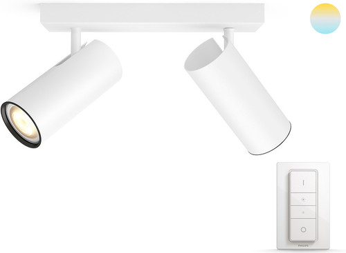 Philips Hue Buratto 2-Spot Wit met Dimmer Main Image