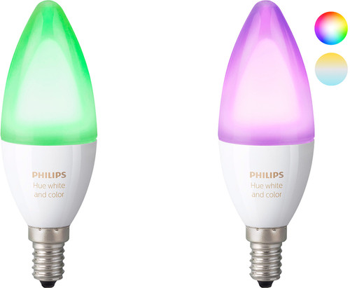 Philips Hue White and Color E14 Duo Pack Main Image