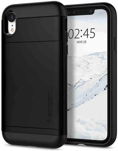 Spigen Slim Armor CS iPhone Xr Back Cover Black Main Image
