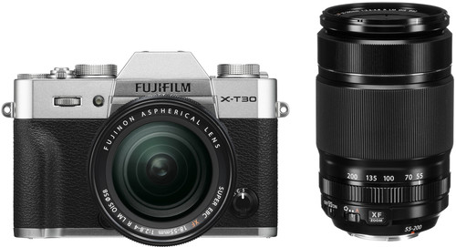 FujiFilm X-T30 Zilver + XF 18-55mm f/2.8-4.0 +  XF 55-200mm f/3.5-4.8 Main Image