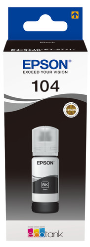 Epson 104 EcoTank Ink Bottle Black Main Image