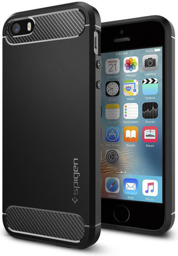 Spigen Rugged Armor Apple iPhone 5/5S/5SE Zwart Main Image