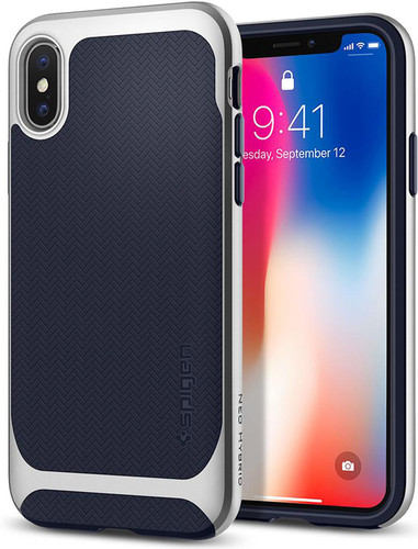 Spigen Neo Hybrid Apple iPhone X Back Cover Blauw Main Image