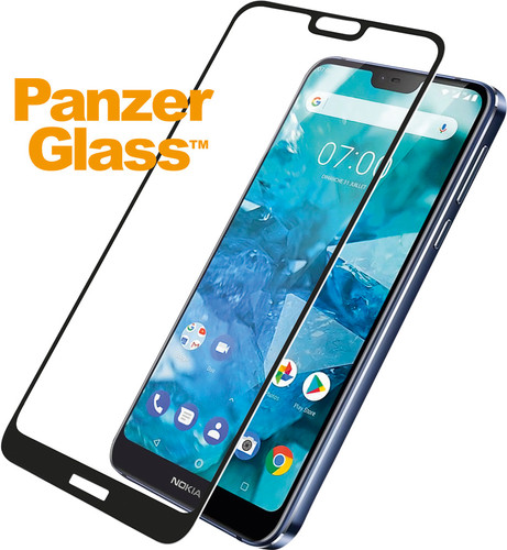 PanzerGlass Nokia 7.1 Screenprotector Glas Zwart Main Image
