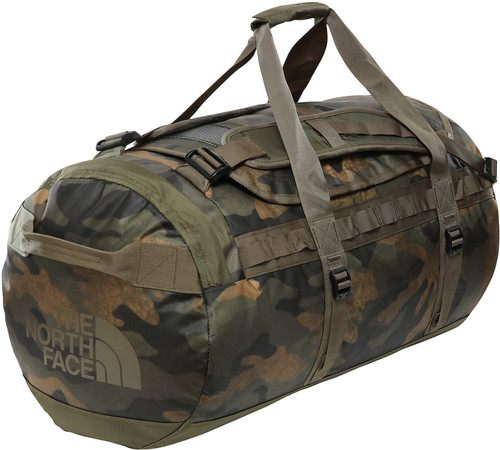 The North Face Base Camp Duffel M Burnt Olive Green Woods Camo Main Image