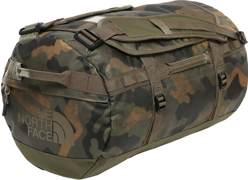 The North Face Base Camp Duffel S Burnt Olive Green Woods Camo Main Image