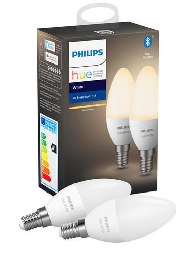 Philips Hue Kaarslamp White E14 Bluetooth Duo Pack Main Image