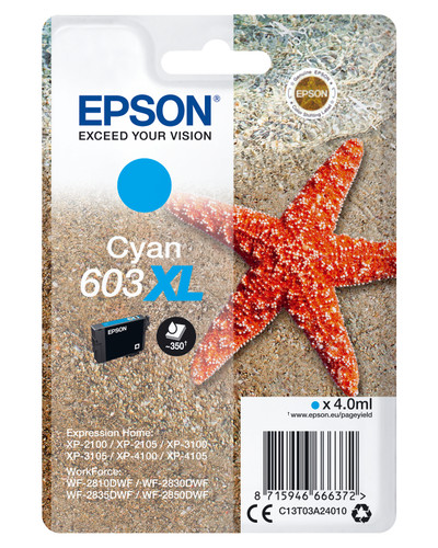 Epson 603XL Cartridge Cyan XL Main Image