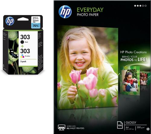 HP 303 4-color + photo paper Main Image