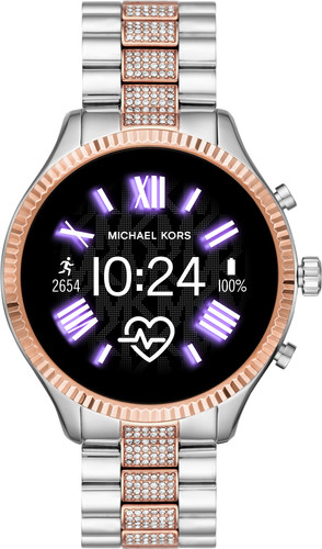 Michael Kors Access Lexington Gen 5 MKT5081 - Zilver/Rosé Goud met diamantjes Main Image