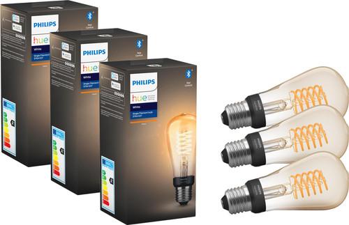 Philips Hue Filamentlamp White Edison E27Bluetooth 3-Pack Main Image