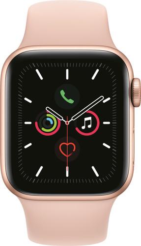 Apple Watch Series 5 40mm Goud Aluminium Roze Sportband Main Image
