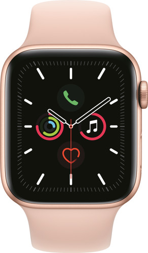 Apple Watch Series 5 44mm Gold Aluminum Pink Sport Band Main Image