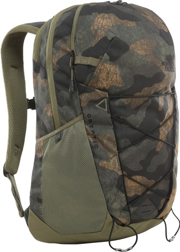 The North Face Cryptic Burnt Olive Green Waxed Camo Print/Bu Main Image