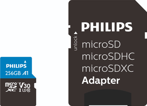 Philips Micro SDXC 64GB 100MB/s + SD Adapter Main Image