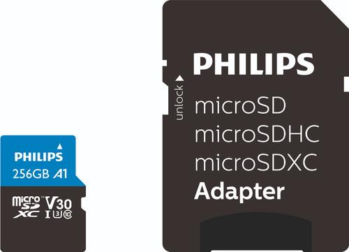 Philips Micro SDXC 256GB 100MB/s + SD Adapter Main Image