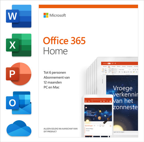 Microsoft Office 365 Home Abonnement 1 jaar NL Main Image