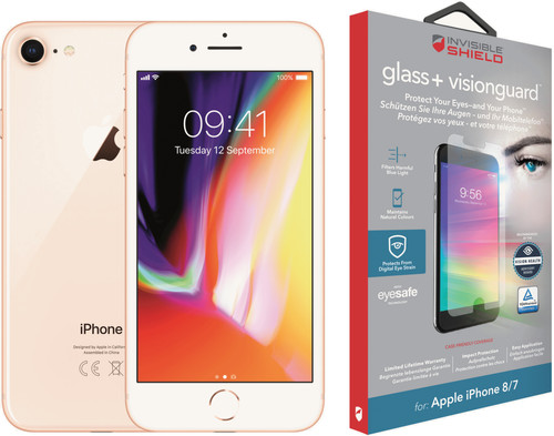 Apple iPhone 8 64GB Gold + InvisibleShield Glass + VisionGuard screen protector Main Image