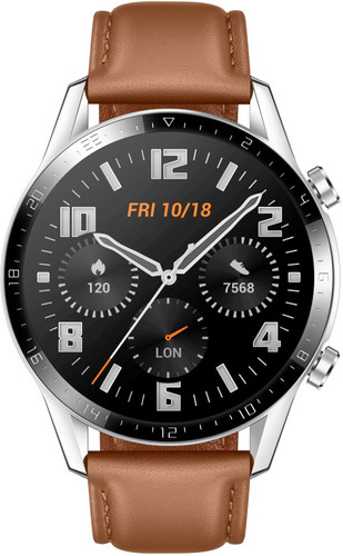 Huawei Watch GT 2 Silver/Brown 46mm Main Image