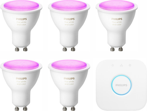 Philips Hue White & Colour Starter Pack GU10 - 5 lights Main Image