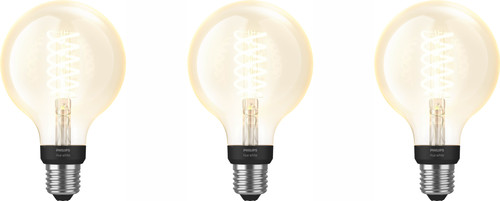 Philips Hue Filamentlamp White Globe E27 3 pack Bluetooth Main Image
