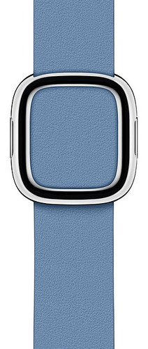 Apple Watch 40mm Modern Leather Watch Strap Cornflower Blue - Large Main Image