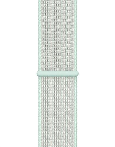 Apple Watch 44mm Nylon Sport Loop Nike Horlogeband Teal Tint Main Image