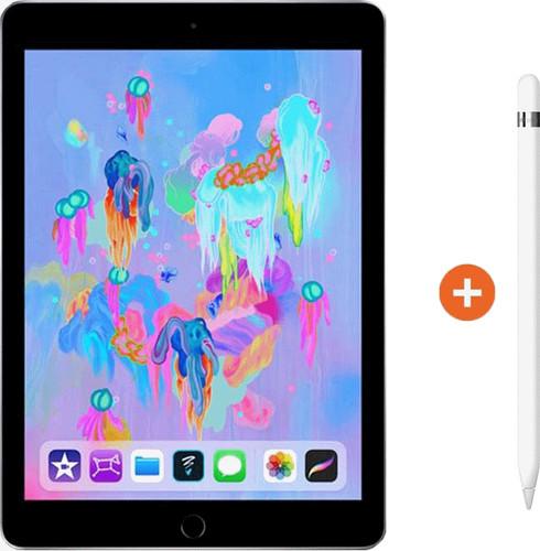 Apple iPad (2018) 128GB WiFi Space Gray + Apple Pencil Main Image