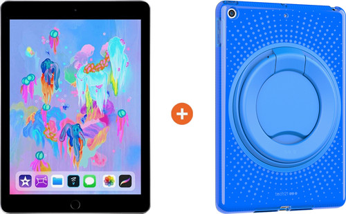 Apple iPad (2018) 32GB WiFi + Tech21 Evo Back Cover Blue Main Image
