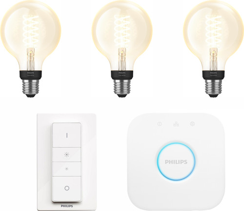 Philips Hue Filamentlamp White Globe E27 Bluetooth Starter Pack Main Image