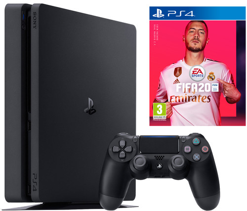Sony Playstation 4 slim 500GB + FIFA 20 PS4 Main Image