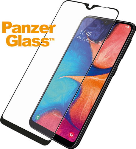 PanzerGlass Case Friendly Samsung Galaxy A20e Screenprotector Glas Zwart Main Image