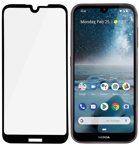 PanzerGlass Case Friendly Nokia 4.2 Screenprotector Glas Zwart Main Image
