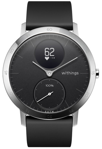 Withings Steel HR Zilver/Zwart 40 mm Main Image