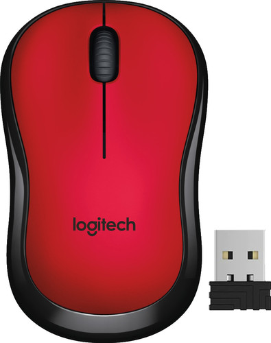 Logitech M220 Silent Wireless Mouse Red Main Image