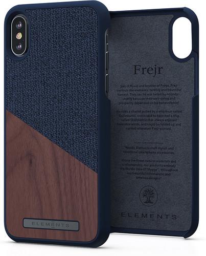 Nordic Elements Frejr Apple iPhone Xs Max Back Cover Dark Gray / Wood Main Image