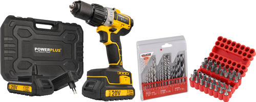 Powerplus POWX00450 + Drill Set 16-piece and Bit Set 33-piece Main Image
