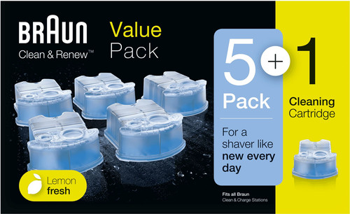 Braun Cleaning Fluid Clean & Renew Cartridges (5+1 units) Main Image