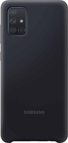 Samsung Galaxy A71 Silicone Back Cover Zwart Main Image