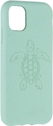 Pela Eco Friendly iPhone 11 Back Cover Blauw (Turtle Edition) Main Image