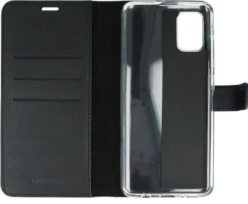 Valenta Samsung Galaxy A71 Book Case Leer Zwart Main Image