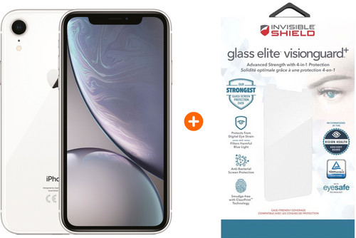 Apple iPhone Xr 64GB White + InvisibleShield Glass + VisionGuard screen protector Main Image