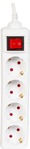 Veripart stekkerdoos 4-voudig 3 meter wit Main Image