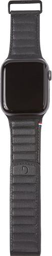 Decoded Apple Watch 40mm/38mm Leren Bandje Zwart Main Image