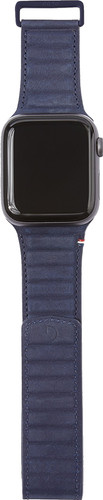 Decoded Apple Watch 40mm/38mm Leren Bandje Blauw Main Image
